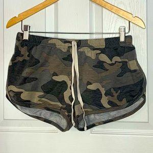 Camo Lounge Short Shorts